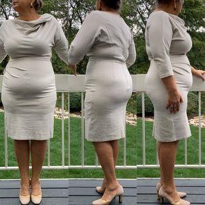 Sizing Chin Midi, form fitting Dress. SZ.12